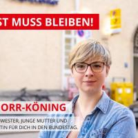 Seija Knorr-Köning setzt sich für den Erhalt der Post ein.